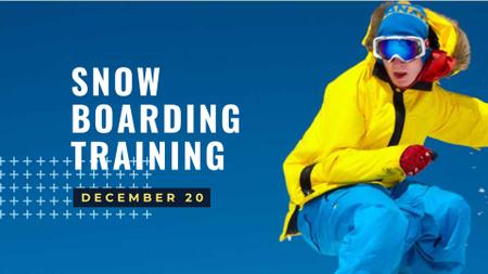 Designvorlage Snow Boarding Training Offer für FB event cover