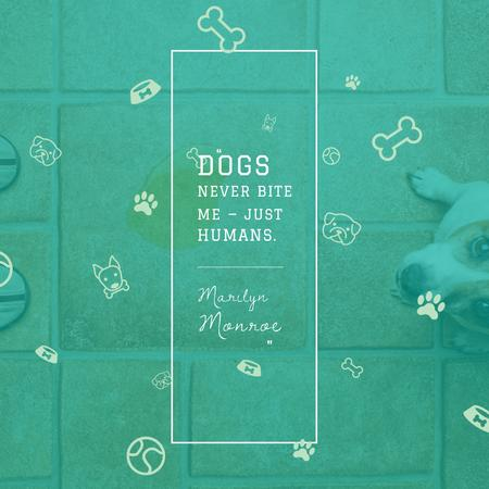 Template di design Citation about Good Dogs Instagram