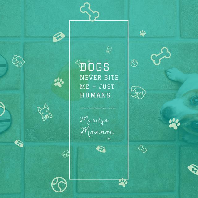 Citation about Good Dogs Instagram – шаблон для дизайна