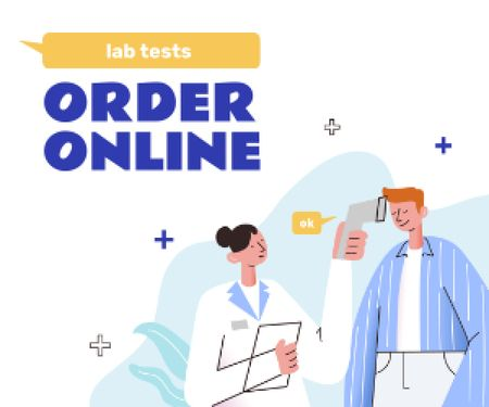 Plantilla de diseño de Online Lab Tests offer Medium Rectangle