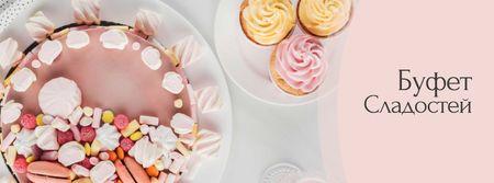 Bakery Promotion Sweet Pink Cake Facebook cover – шаблон для дизайна