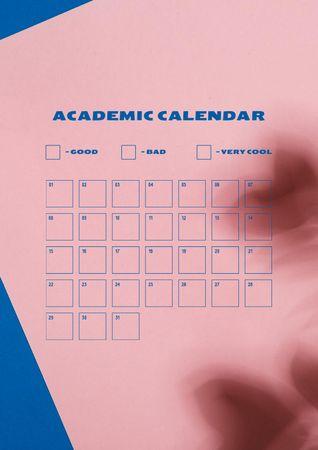 Ontwerpsjabloon van Schedule Planner van Schedule of Academic Calendar