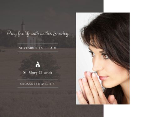 Template di design St. Mary Church Large Rectangle