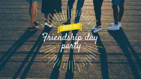 Plantilla de diseño de Friendship Day Party Announcement FB event cover