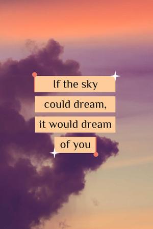 Template di design Dream Quote on sunset Sky Pinterest
