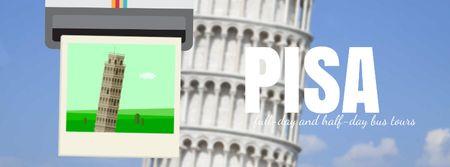 Modèle de visuel Pisa famous travelling spots - Facebook Video cover