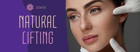 Template di design Natural lifting Offer with Woman Face Facebook cover