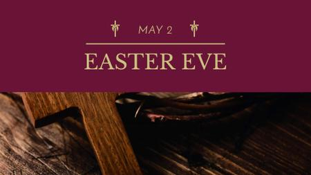 Template di design Easter Eve Announcement with Wooden Cross FB event cover