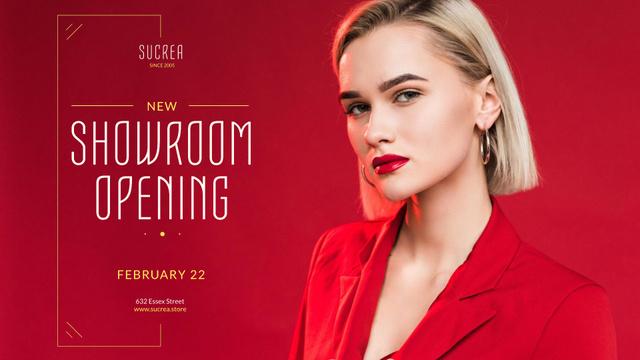 Plantilla de diseño de Stylish Women in Red Outfit Full HD video