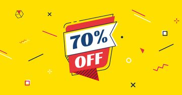 Discount Offer on Speech Bubble in Yellow