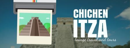 Designvorlage Chichen Itza famous sights für Facebook Video cover