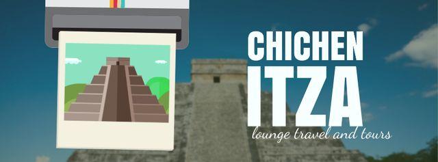 Modèle de visuel Chichen Itza famous sights - Facebook Video cover