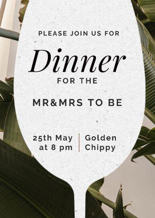 Template di design Wedding Announcement with Wine Glass Silhouette Invitation