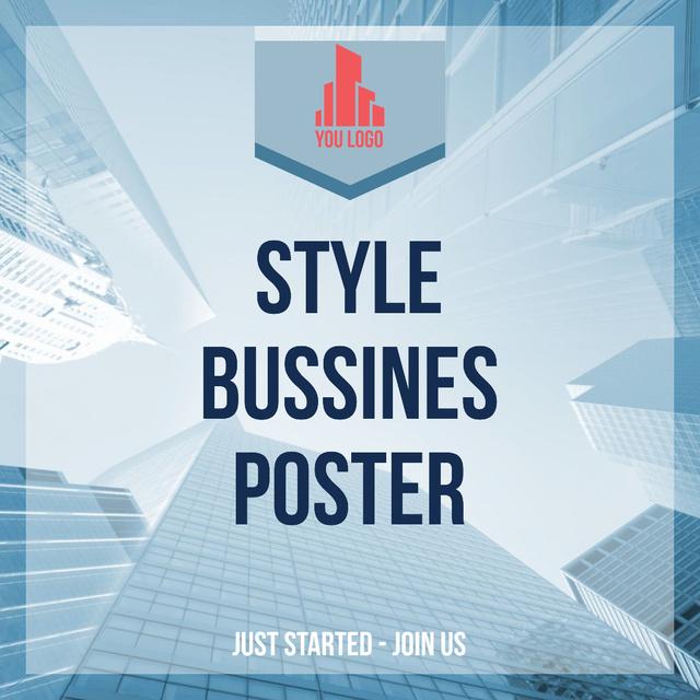 Designvorlage Real Estate Advertisement Modern Skyscrapers für Instagram AD