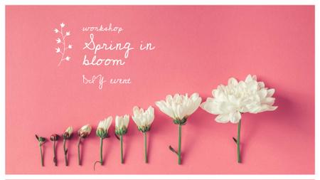 Modèle de visuel Spring Event Announcement with Tender Flowers - FB event cover