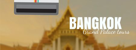 Ontwerpsjabloon van Facebook Video cover van Visit Famous authentic Bangkok
