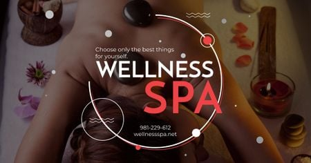 Template di design Wellness spa Ad with relaxing Woman Facebook AD