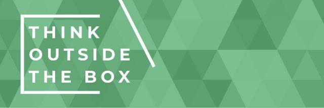 Motivational citation on green triangles Email header Modelo de Design