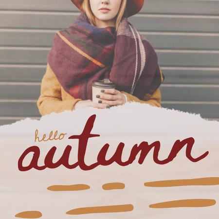 Plantilla de diseño de Stylish Young Girl in Autumn Outfit Instagram