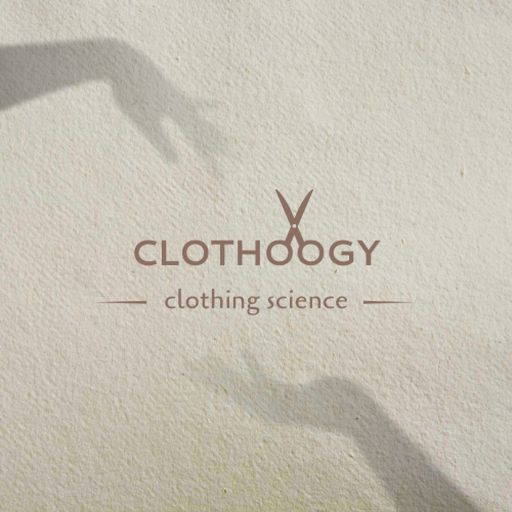 Clothing Brand Ad With Scissors Illustration