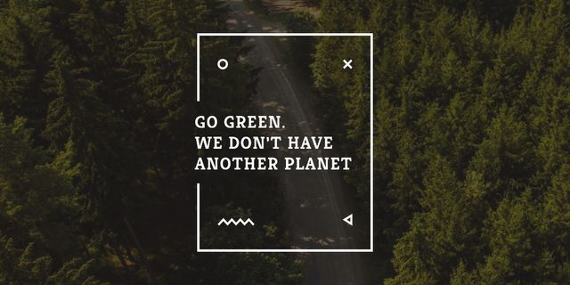 Citation about green planet Imageデザインテンプレート
