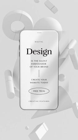 digital Instagram Video Story – шаблон для дизайна