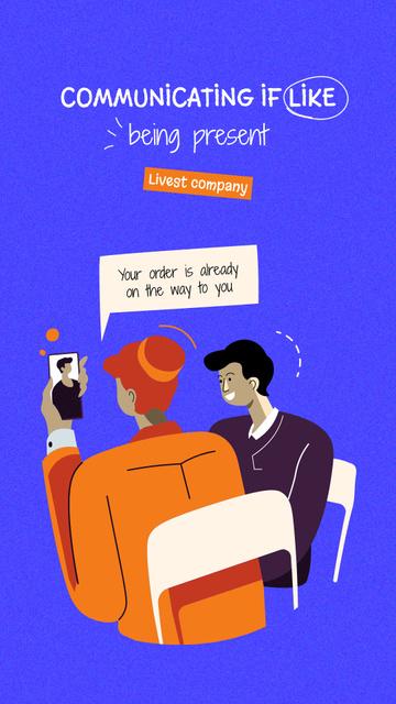 Plantilla de diseño de Illustration of People making Online Order Instagram Story