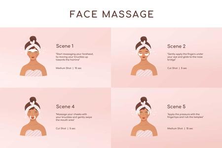 Woman relaxing at Face Massage Storyboard – шаблон для дизайну