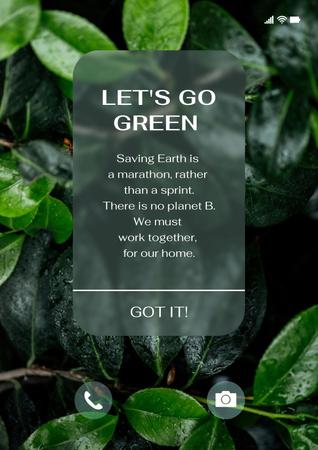 Modèle de visuel Eco Concept with Green Plant - Poster