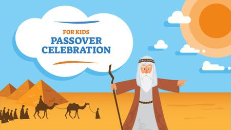 Modèle de visuel Passover Celebration with Moses in Egypt - FB event cover