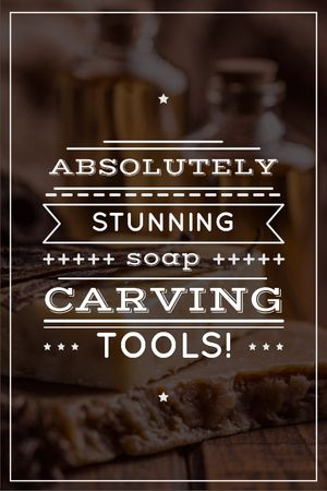 Ontwerpsjabloon van Tumblr van Carving Tools Ad Handmade Soap Bars