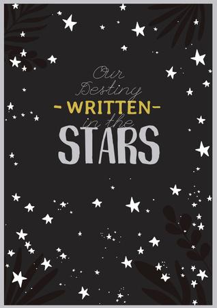 Astrology Inspiration with Cute Stars Poster – шаблон для дизайну