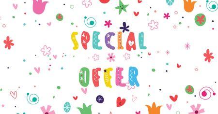 Holiday Special Offer on Bright pattern Facebook AD Tasarım Şablonu