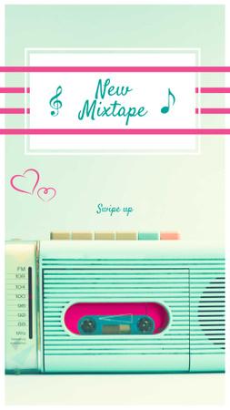 Modèle de visuel New Mixtape Ad with Vintage Radio - Instagram Story