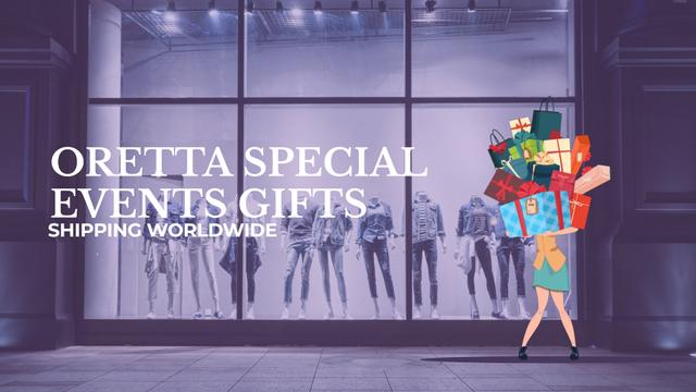 Woman holding huge stack of gifts Full HD video Modelo de Design
