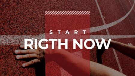 Plantilla de diseño de Hands on start line with motivational quote Youtube