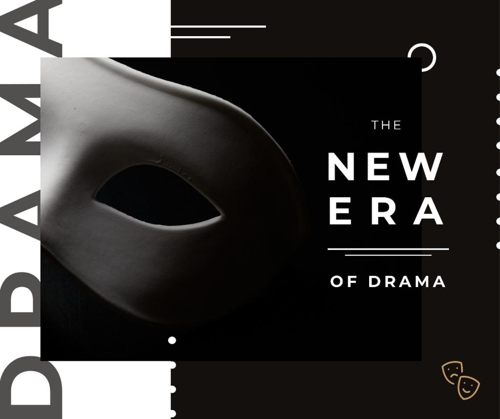 Theatrical Drama white mask — Crear un diseño