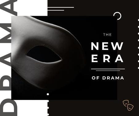 Theatrical Drama white mask Facebook Tasarım Şablonu