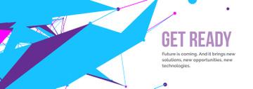 Future Technologies Theme Geometric Pattern