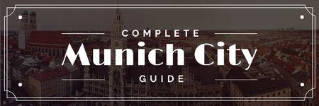 Ontwerpsjabloon van Email header van Munich city guide Offer