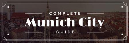 Template di design Munich city guide Offer Email header
