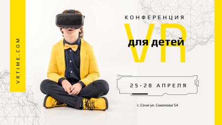 Boy in VR glasses Full HD video – шаблон для дизайна