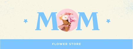 Flower Store Offer on Mother's Day Facebook coverデザインテンプレート