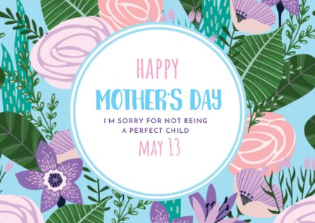 Modèle de visuel Happy Mother's Day Greeting - Card