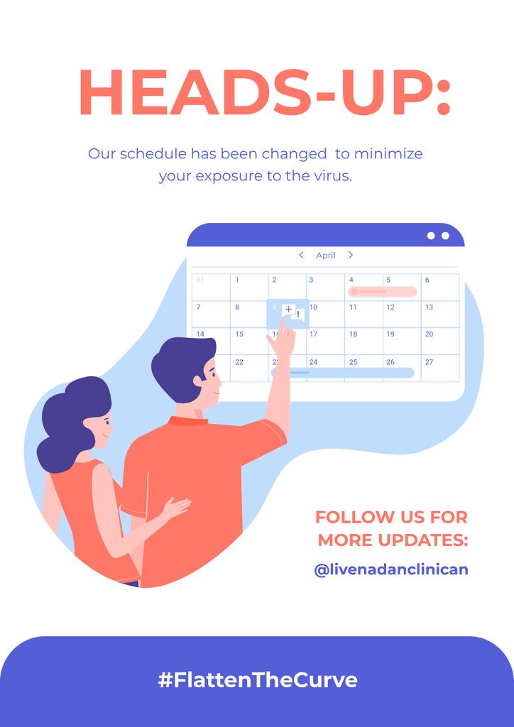 #FlattenTheCurve Working Hours Rescheduling during quarantine — Crea un design