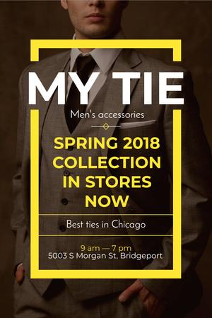 Plantilla de diseño de Tie store Offer with Stylish Man Pinterest
