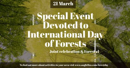 Special Event devoted to International Day of Forests Facebook ADデザインテンプレート