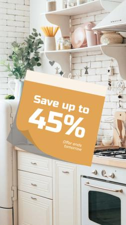 Modèle de visuel Comfortable kitchen Offer - Instagram Story