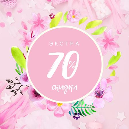 Special Sale with blooming flowers Frame Animated Post – шаблон для дизайна