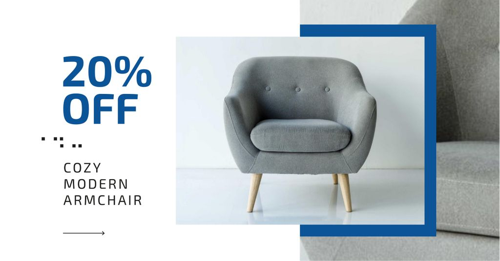 Furniture Store Ad Armchair in Grey — Maak een ontwerp